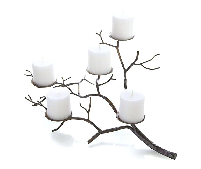 775x650 Branch Candle Holder Silver Wall Large Tree