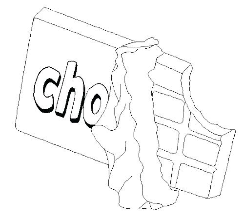 500x449 Chocolate Coloring Pages Coloring Candy Bar Coloring Pages Black
