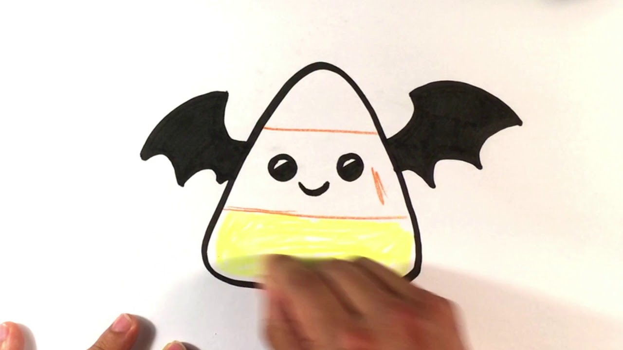 1280x720 How To Draw Cute Candy Corn