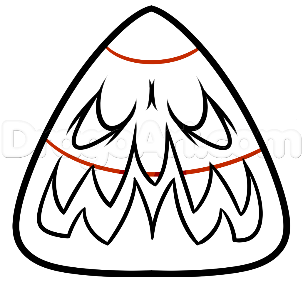 1031x986 How To Draw A Halloween Candy Corn, Step