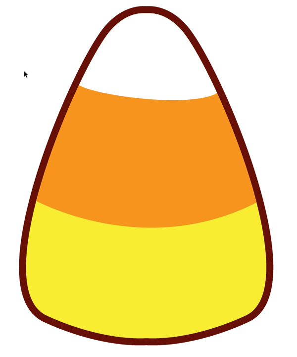 600x719 How To Make A Quick Kawaii Candy Corn Pattern For Halloween