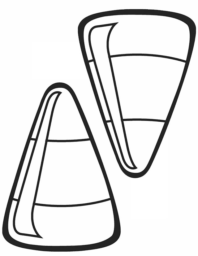 640x827 Candy Corn Coloring Pages