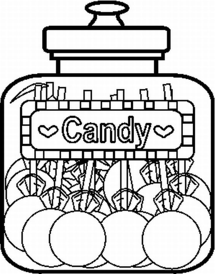 741x945 Candy Jar Coloring