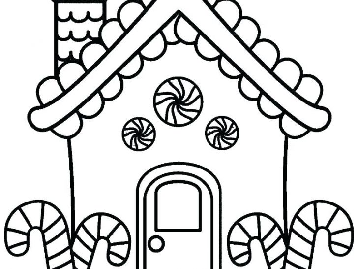 728x546 Detailed Gingerbread House Coloring Pages Girl Man Baby At Free
