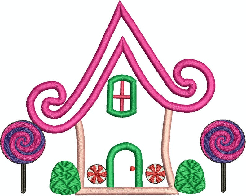 794x633 gingerbread house candyland house applique house gum etsy