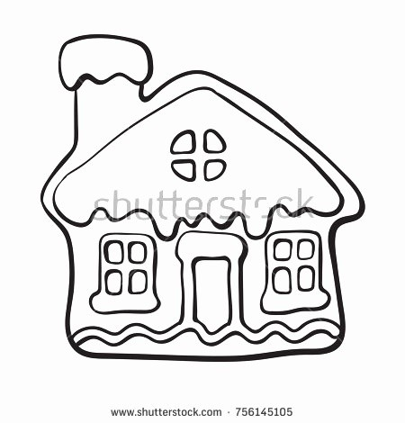 450x470 Hansel And Gretel Candy House Coloring