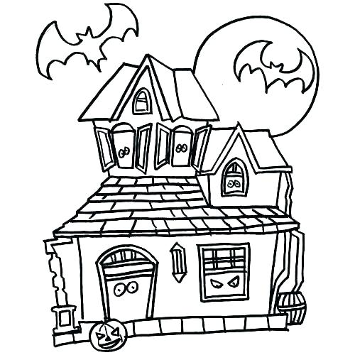 500x500 haunted house coloring pages free printable haunted house coloring