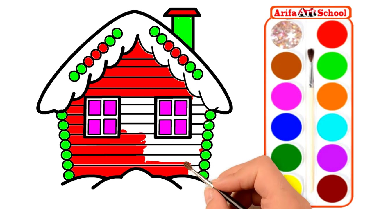 1280x720 How To Draw Candy House House Coloring Pages For Kids Draw Candy