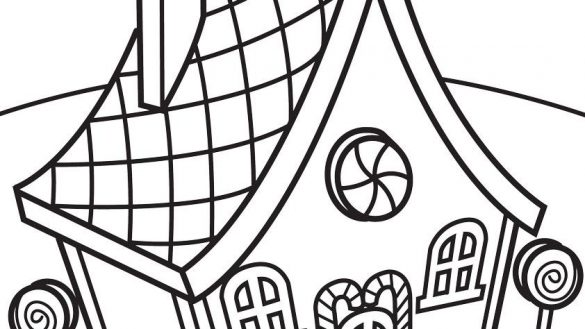 585x329 Candy House Coloring Pages The Most Drawing At Getdrawings Com
