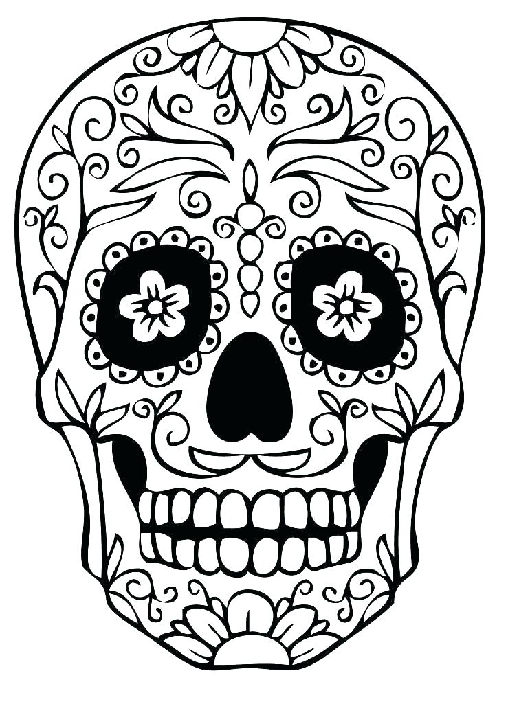 736x1041 skull coloring pictures evil skull coloring pages free skull