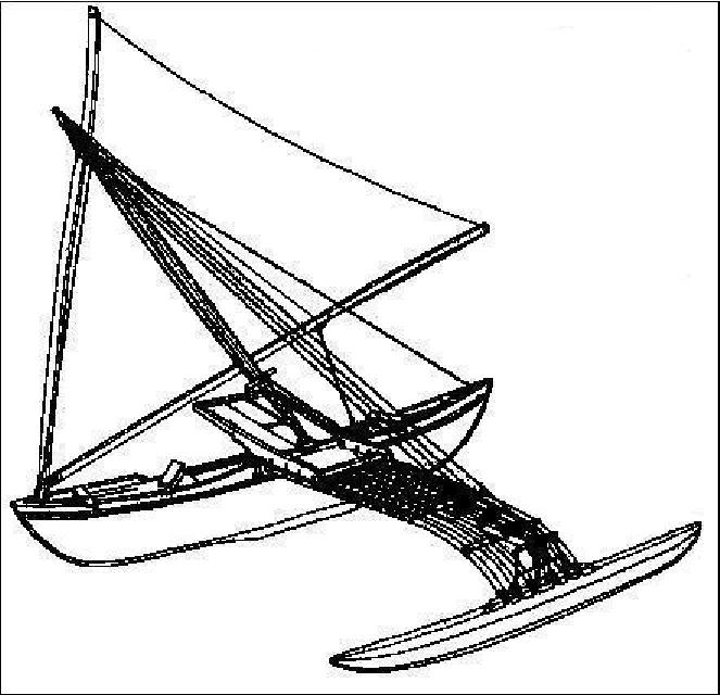 canoe drawing