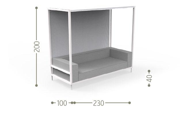 650x400 Cleoalu Canopy Sofa Italian Garden Furniture Talenti