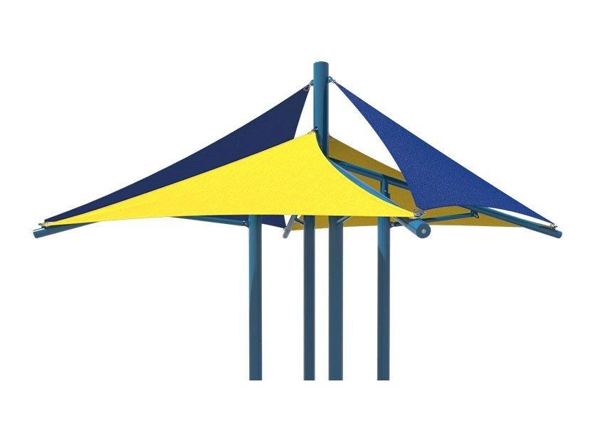 864x623 Custom Modular Quad Sail Shade Structure For Playground Equipment