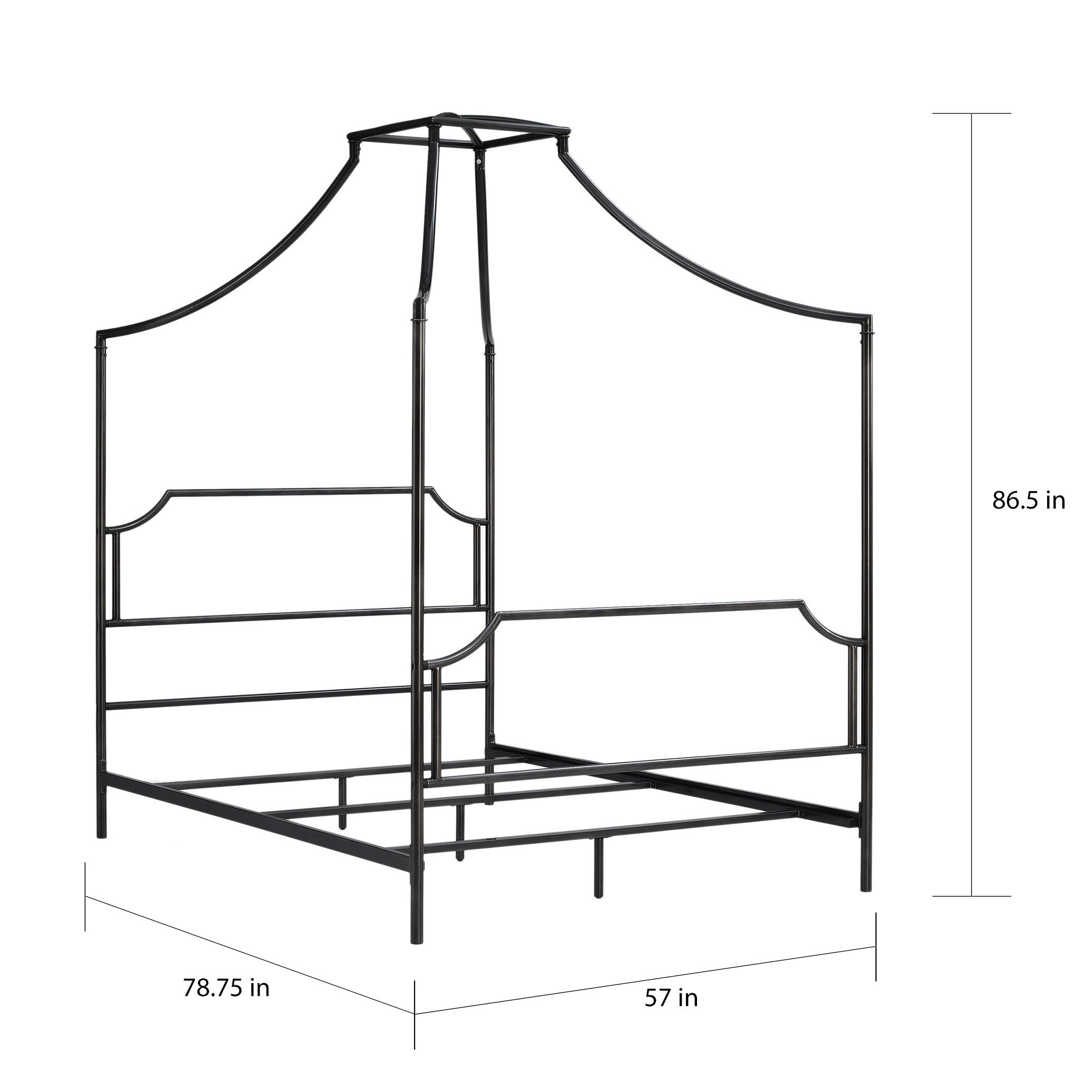 2068x2068 Shop The Curated Nomad Bailey Charcoal Full Size Canopy Bed Frame