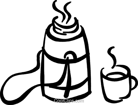 480x366 canteen of coffee royalty free vector clip art illustration