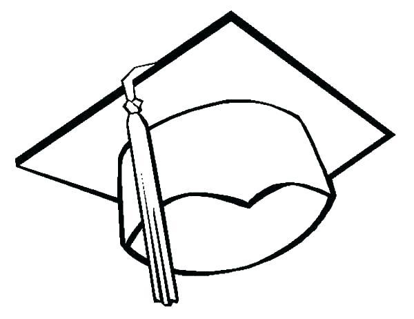600x462 Graduation Cap Coloring