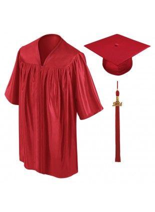 310x424 Red Kindergarten Cap, Gown Tassel Graduation Apparel