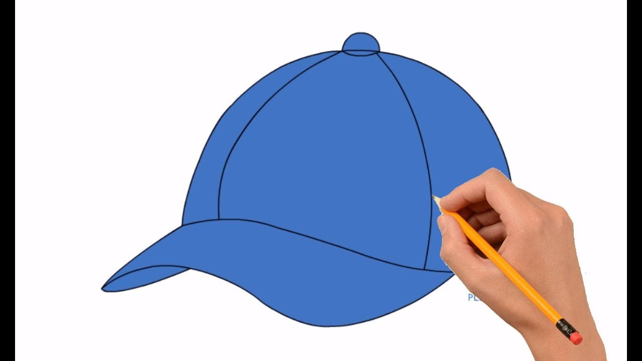 1280x720 How To Draw A Baseball Cap Step