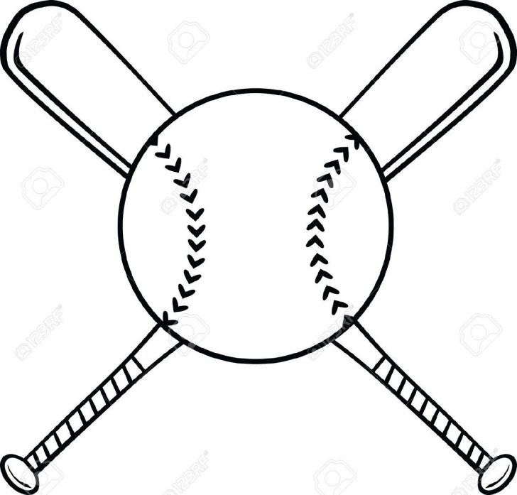 728x697 Baseball Cap Drawing Easy Bat Outline Catcher Free Infield Clipart