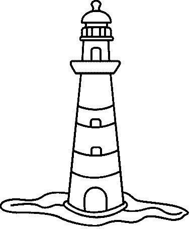384x455 lighthouse coloring drawings lighthouse doodle it up