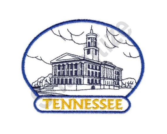 570x456 tennessee state capitol machine embroidery design etsy