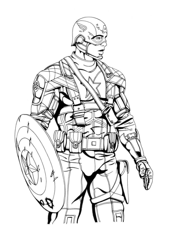 1024x1332 Captain America Clipart Vs Iron Line Drawing