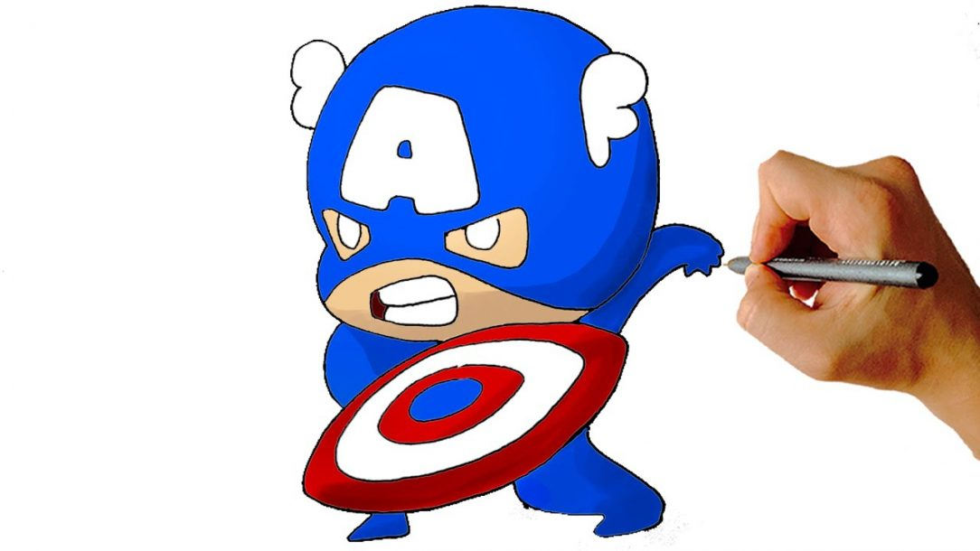 1084x610 Captain America Drawing Movie Images Chest Easy Face Color