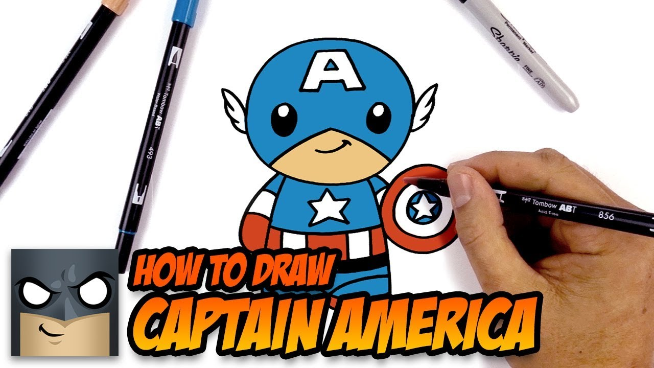 1280x720 How To Draw Captain America Drawing Tutorial For Beginners