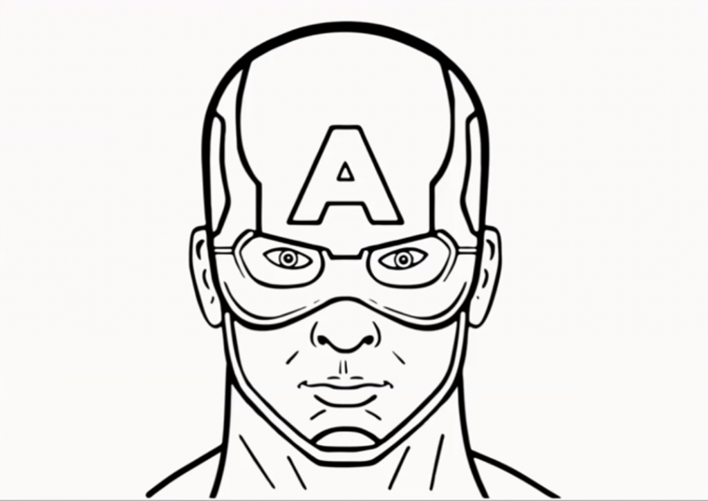 1024x725 How To Draw Captain America
