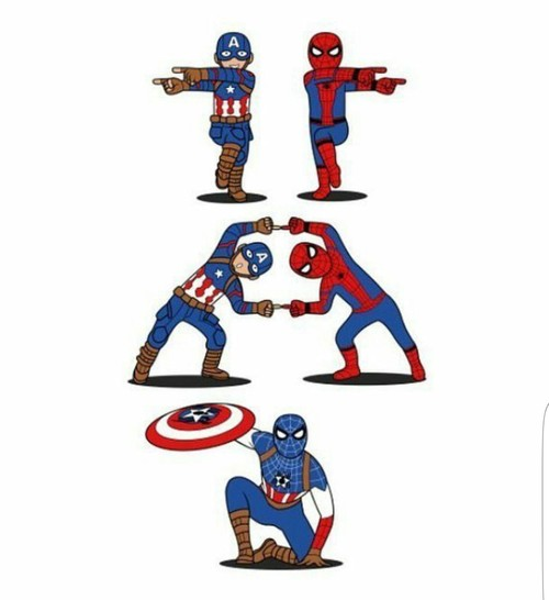 500x546 Spiderman Captain America Shared