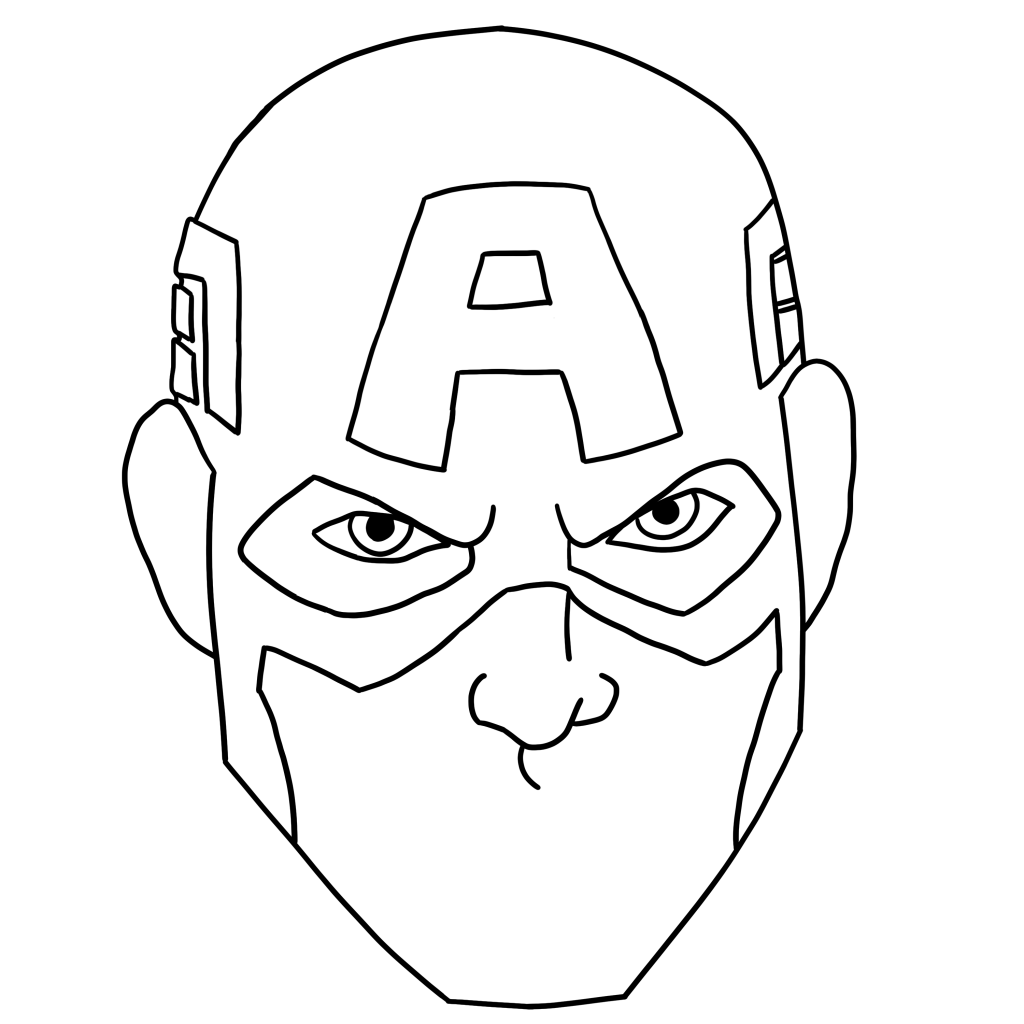1024x1024 Ways To Draw Captain America Face Portrait, Full Body