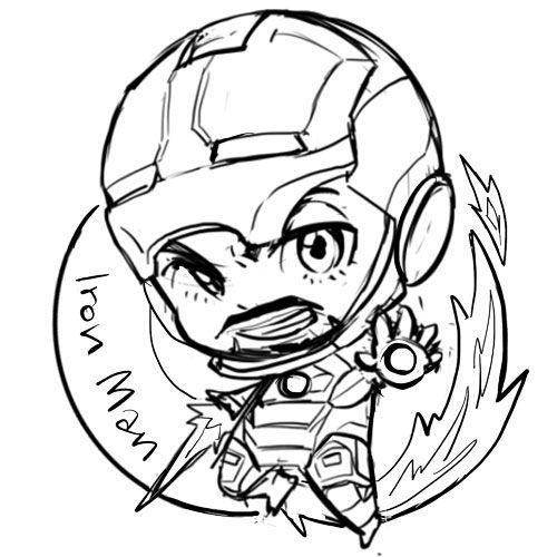 500x500 captain america chibi tumblr lineart ironman chibi, captain