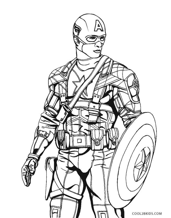667x850 Drawing Comics Captain America For Free Download