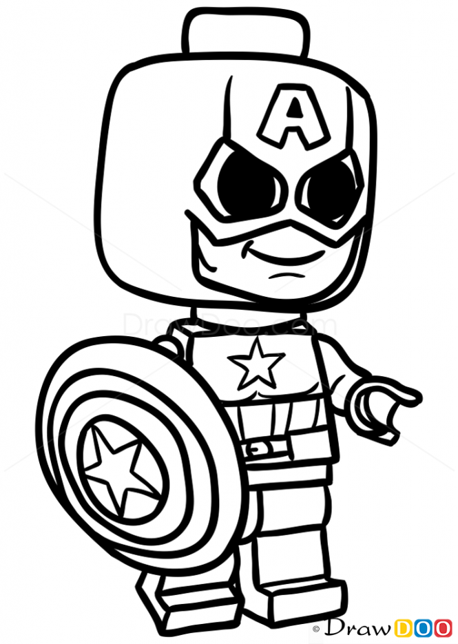 665x935 Drawing Legos Captain America For Free Download