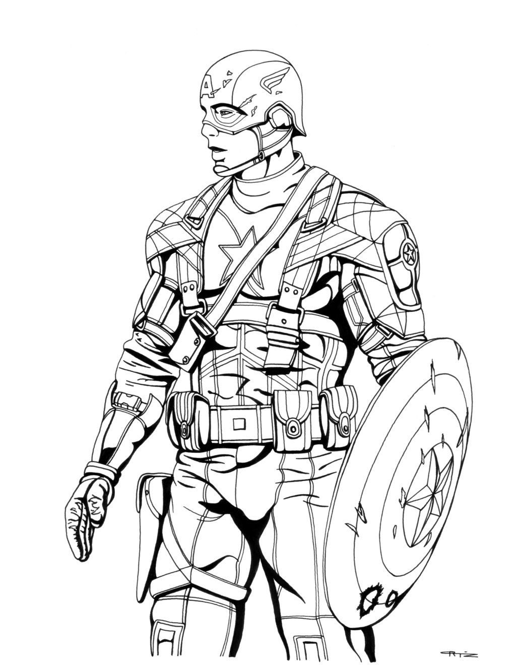 1024x1332 Coloring Pages Captain America Coloring