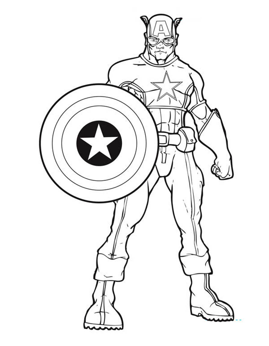 895x1153 Printable Captain America Coloring Pages