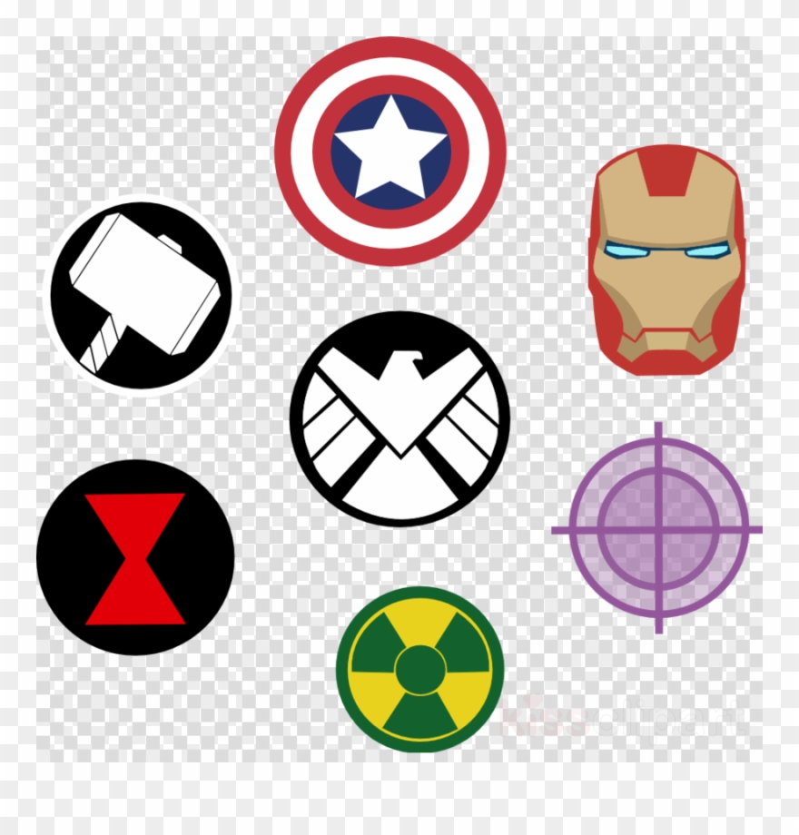 880x920 Avengers Symbol Clipart Black Widow Thor Captain America