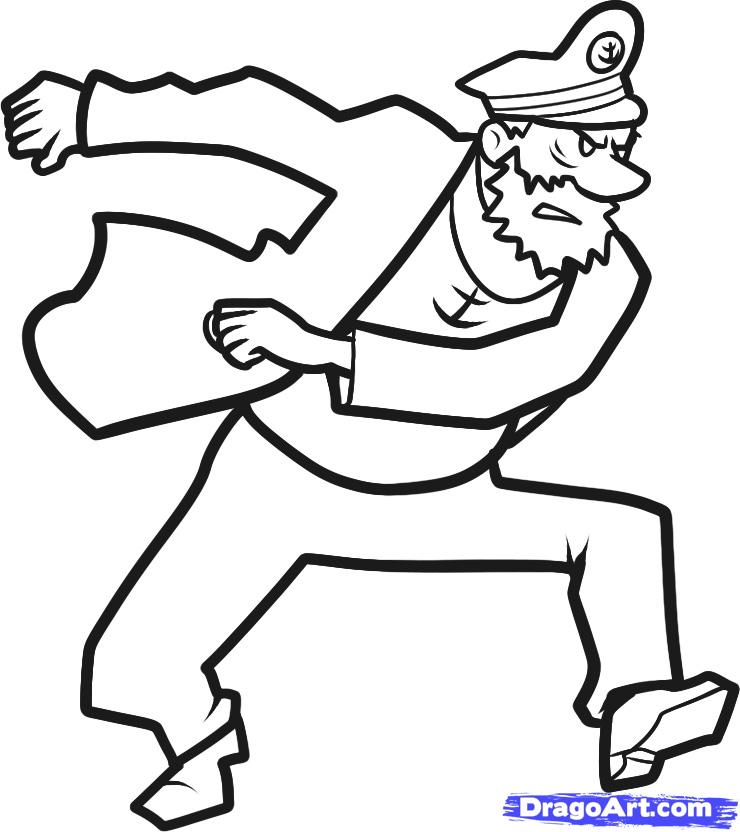 740x832 how to draw captain haddock, captain haddock, step