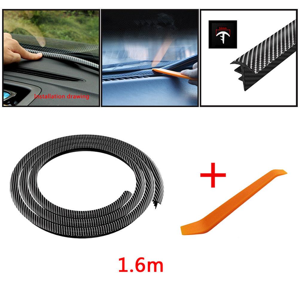 1000x1000 Carbon Fiber Car Dashboard Gap Filling Sealing Strip Rubber