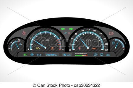 450x301 Car Dashboard Isolated Car Dashboard Auto Speedometer Panel