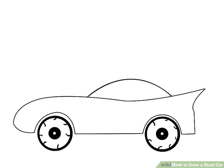 728x546 How To Draw A Stunt Car Steps