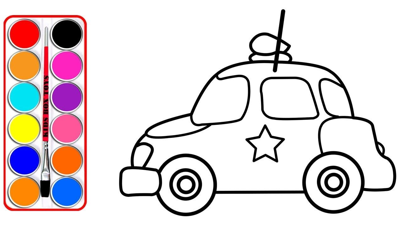 1280x720 how to draw toy police car for kids police car coloring book