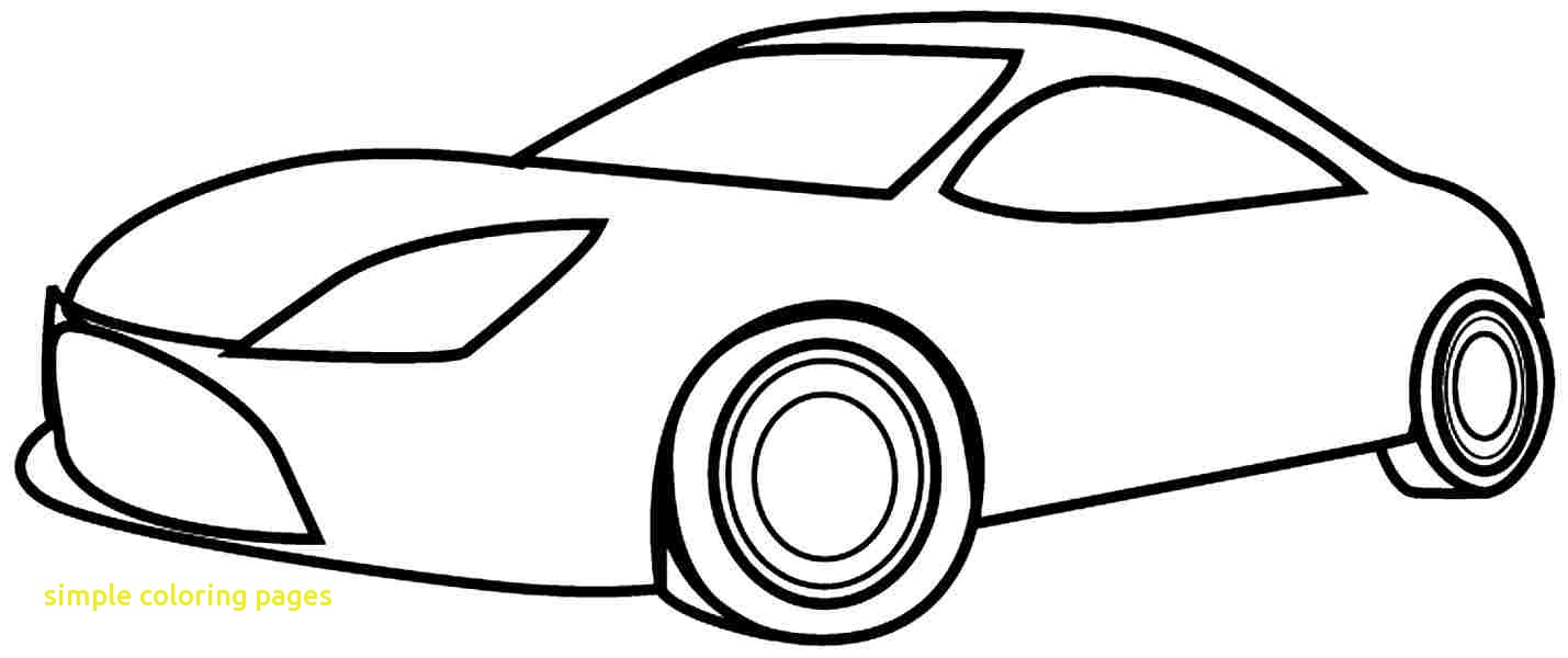 1429x600 Simple Car Coloring Pages