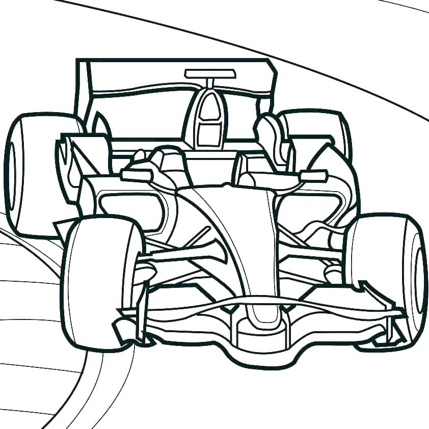 842x842 simple race car drawing at free for personal use race car color