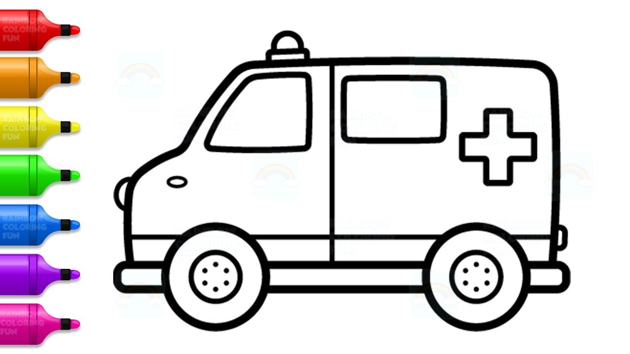 1280x720 Toy Ambulance Car Coloring And Drawing