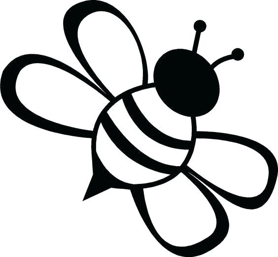 564x520 Drawings Of Bumble Bees Line Drawing Simple Bee Best Sco How
