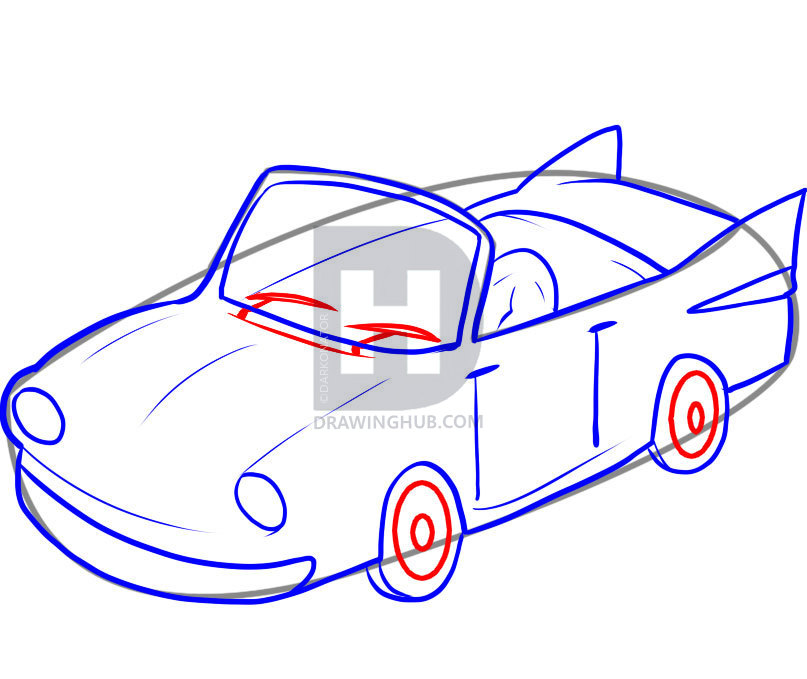 807x679 How To Draw An Easy Car, Step