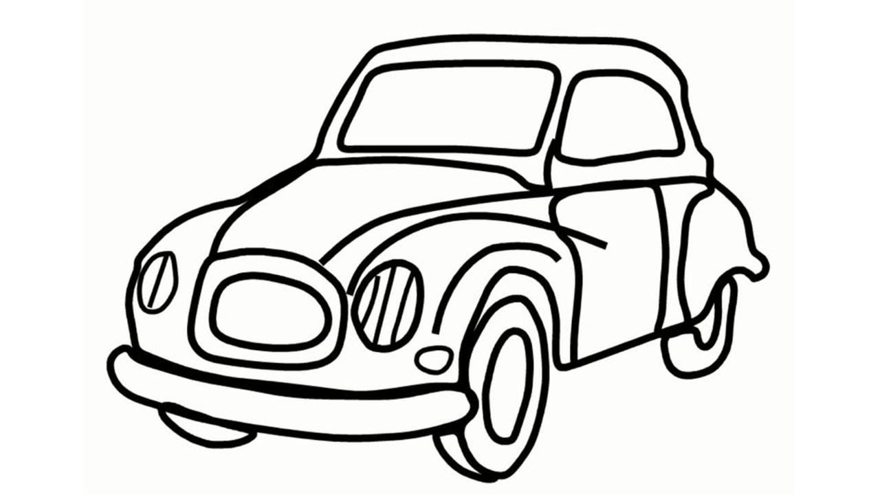 1280x720 How To Draw A Car Step