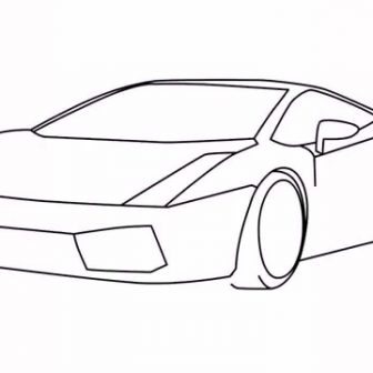 336x336 Cool Car Drawings In Pencil Step