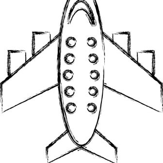 336x336 Airplane Car Drawing Easy Step